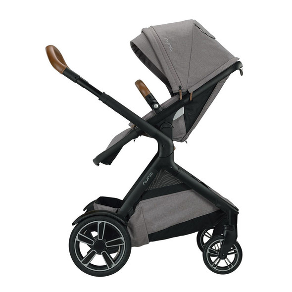 Nuna Demi Grow Stroller + Adapters + Rain Cover + Magnetic Buckle in Frost