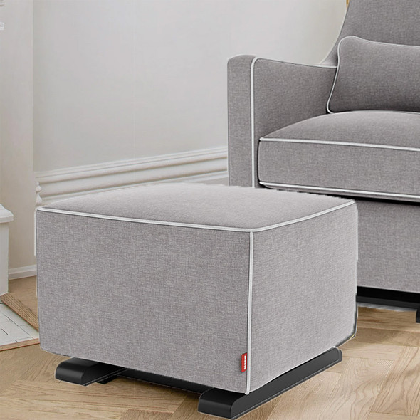 Monte Luca Ottoman with Performance Heathered Fabric