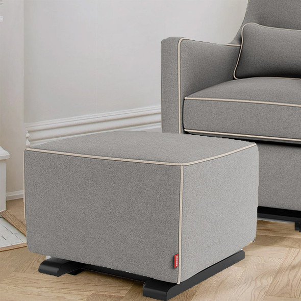 Monte Luca Ottoman with Premium Wool Fabric