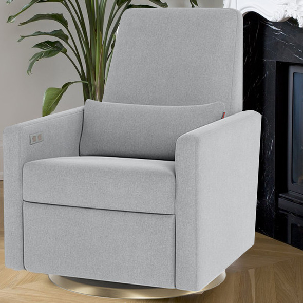 Monte Grano Glider Recliner (Motorized) with Performance Heathered Fabric
