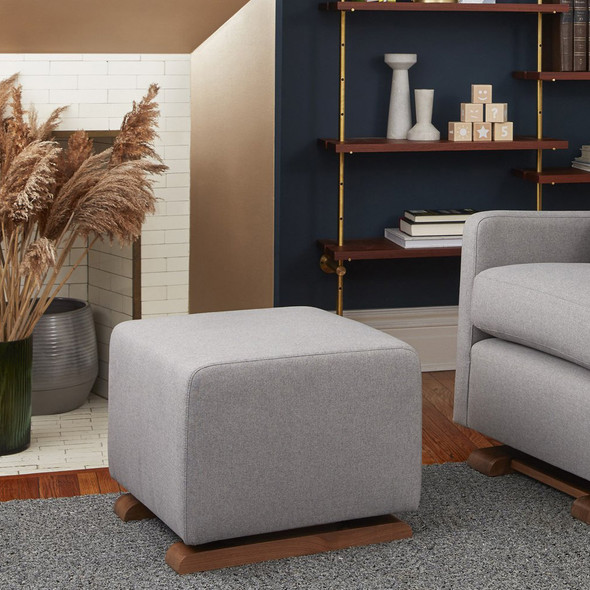 Monte Como Ottoman with Performance Heathered Fabric
