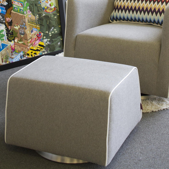 Monte Grazia Ottoman with Performance Heathered Fabric