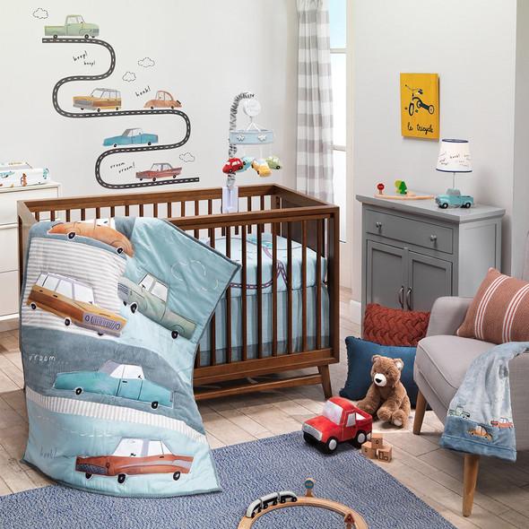 Lambs & Ivy Baby Car Tunes 4-Piece Bedding Set