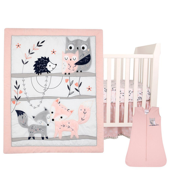 Lambs & Ivy Forever Friends 4-Piece Bedding Set
