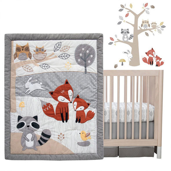 Lambs & Ivy Into the Woods 4-Piece Bedding Set