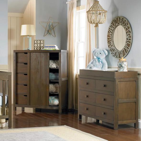 Ti Amo Killington RTA Double Dresser in Weathered Brown