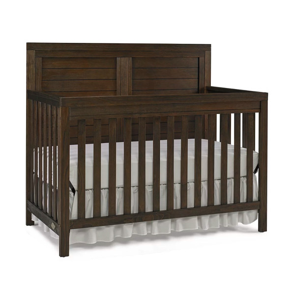 Ti Amo Killington 2 Piece Nursery Set - Full Panel Crib and Chifforobe in Weathered Brown