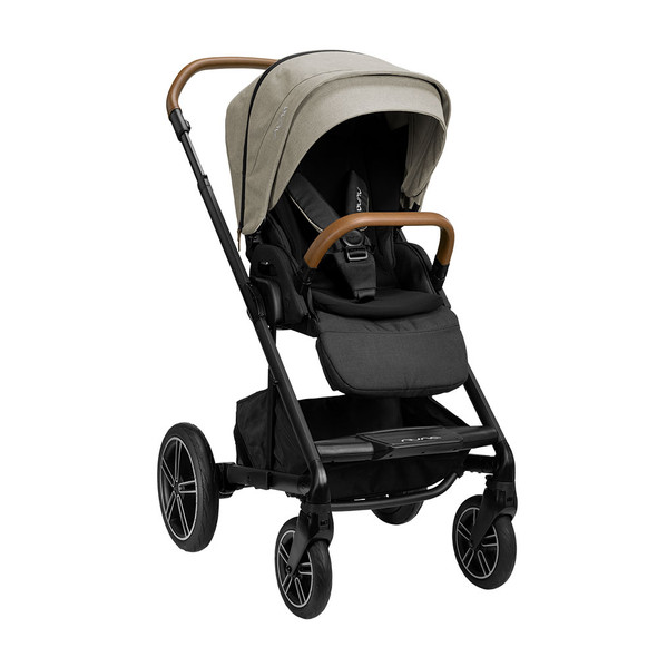 Nuna MIXX Next w/ Magnetic Buckle in Timber – Left Angle View