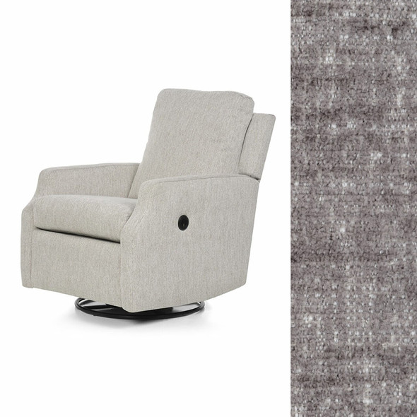 Oilo Harlow Glider w/ Power & USB in Brushed Charcoal