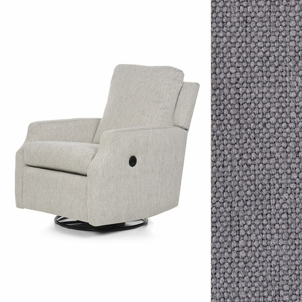 Oilo Harlow Glider w/ Power & USB in HP Oxford Pewter