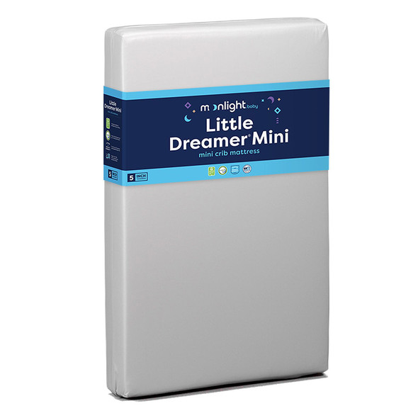 """Moonlight Little Dreamer Mini Crib- 5"""" dual sided 24x38x5"""