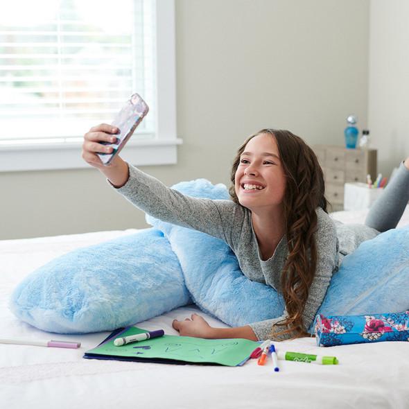 Moonlight Comfort-U Kids Body Pillow w/ Sky Blue Zippered Cover