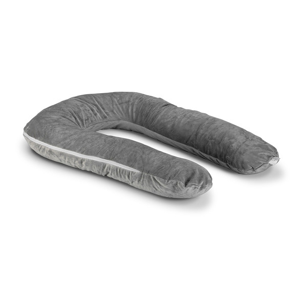 Moonlight Comfort-U Kids Body Pillow w/ Grey Zippered Cover