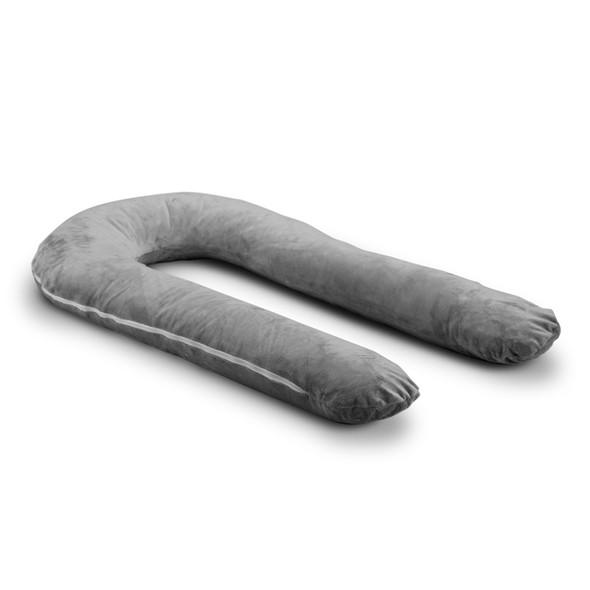Moonlight Comfort U Total Body Pillow w/ Grey Case