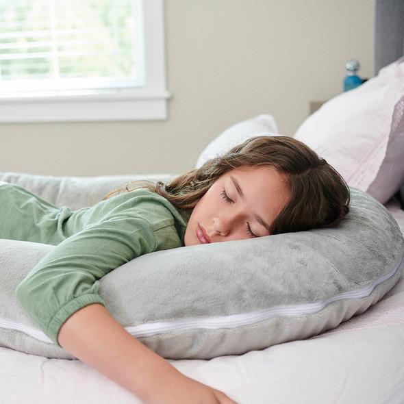 Moonlight Comfort-U Kids Body Pillow Grey Fleece