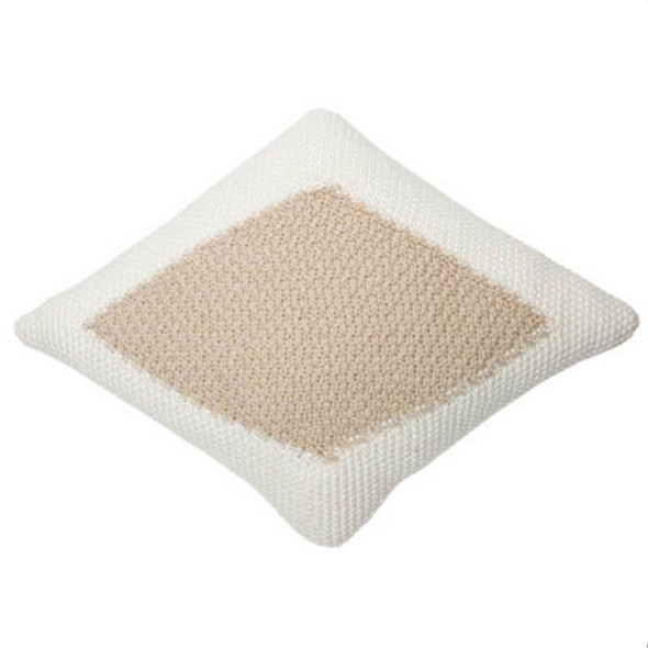 Lorena Canals Knitted cushion Candy Ivory - Linen
