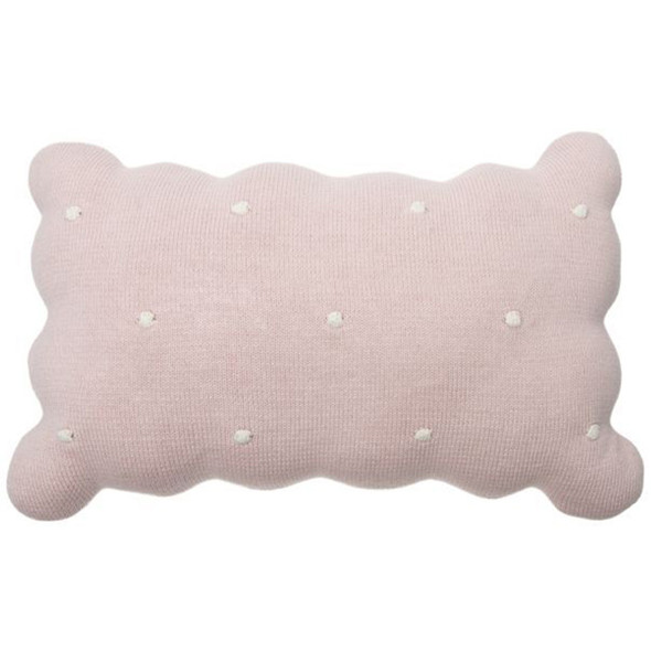 Lorena Canals Knitted Cushion Biscuit Pink