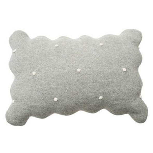 Lorena Canals Knitted Cushion Biscuit Grey