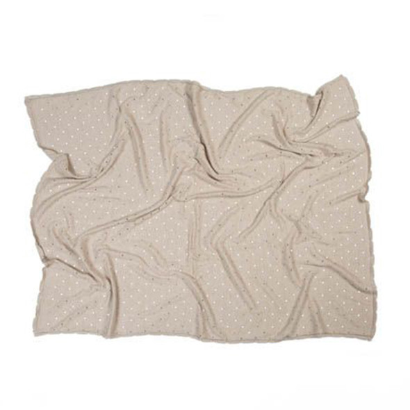 Lorena Canals Knitted Baby Blanket Biscuit Dune White