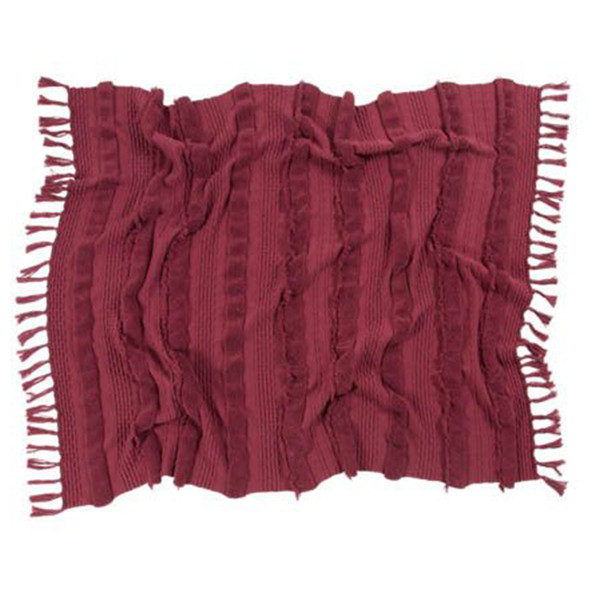 Lorena Canals Knitted Blanket Air Savannah Red