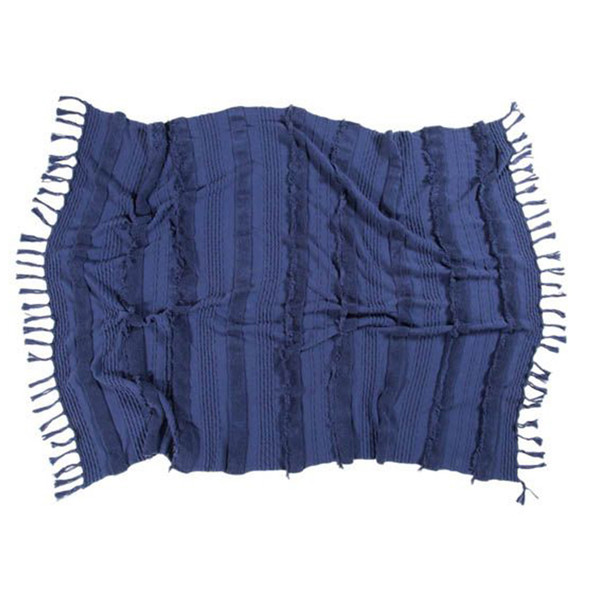 Lorena Canals Knitted blanket Air Alaska Blue