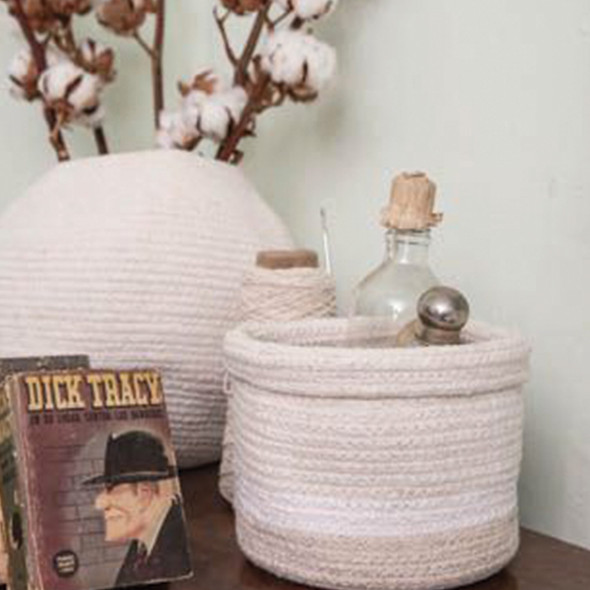 Lorena Canals Basket Mini Tricolor  Ivory