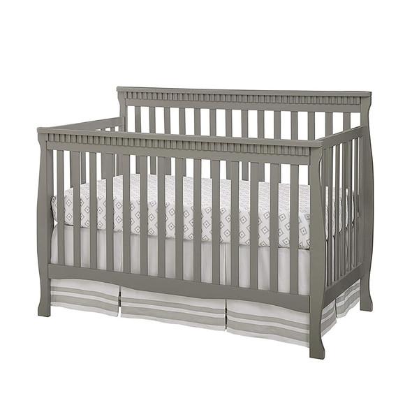 Westwood Emery Slat Convertible Crib In Grey
