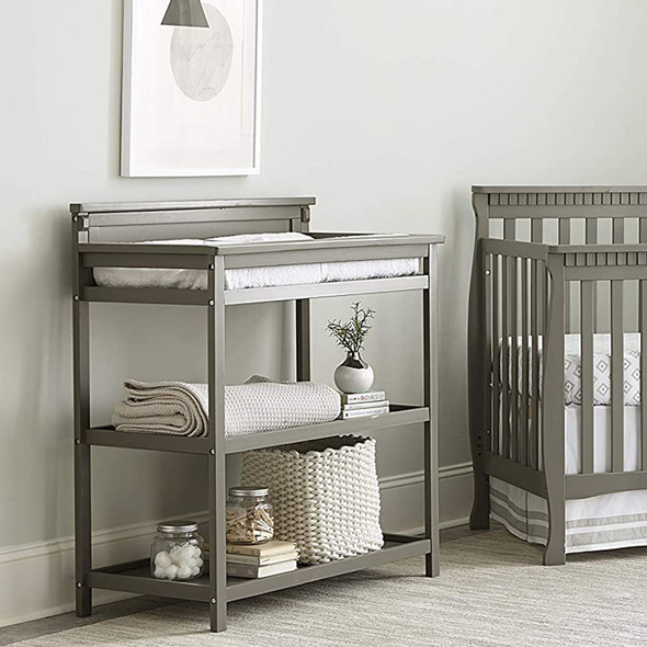 Westwood Emery Changer With Shelves/Pad In Grey