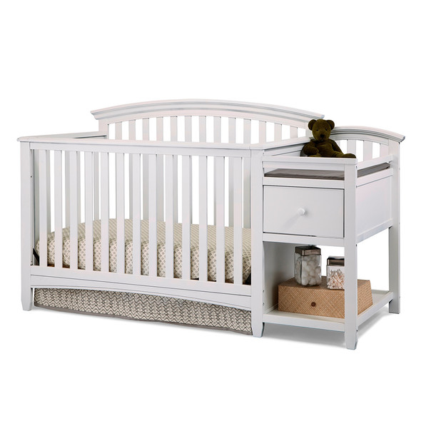 Westwood Montville Crib And Changer W/Pad In White