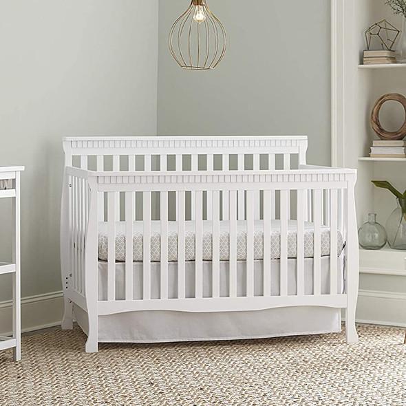 Westwood Emery Slat Convertible Crib In White