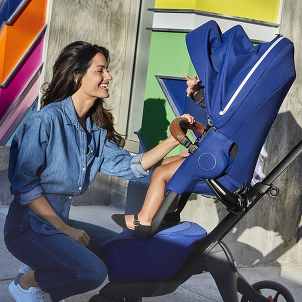 Stokke Xplory X Stroller in Royal Blue