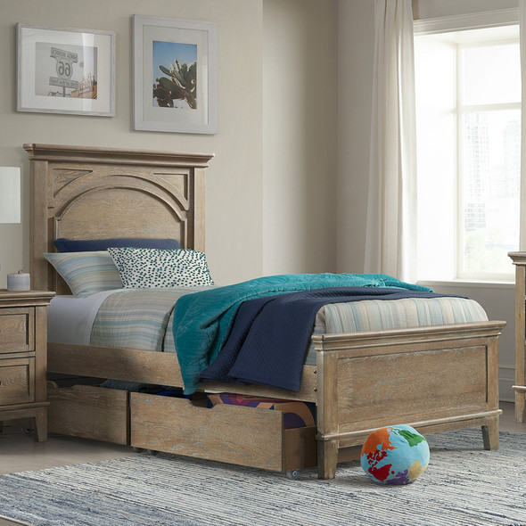 Westwood Leland Youth Complete Twin Bed In Sandwash