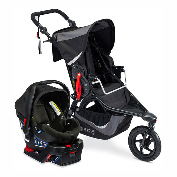 Britax Travel System B-Safe Gen2/BOB Gear Rev Flex 3.0 in Graphite Black