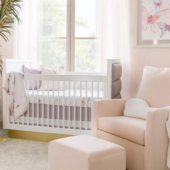 Oilo Butterfly Jersey Crib Sheet