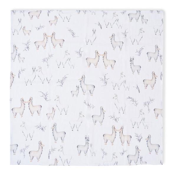 Oilo Llama Swaddle Blanket