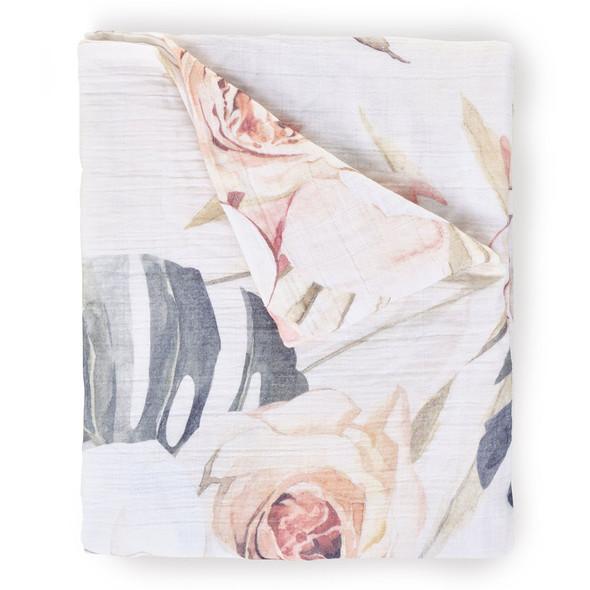 Oilo Vintage Bloom Swaddle Blanket