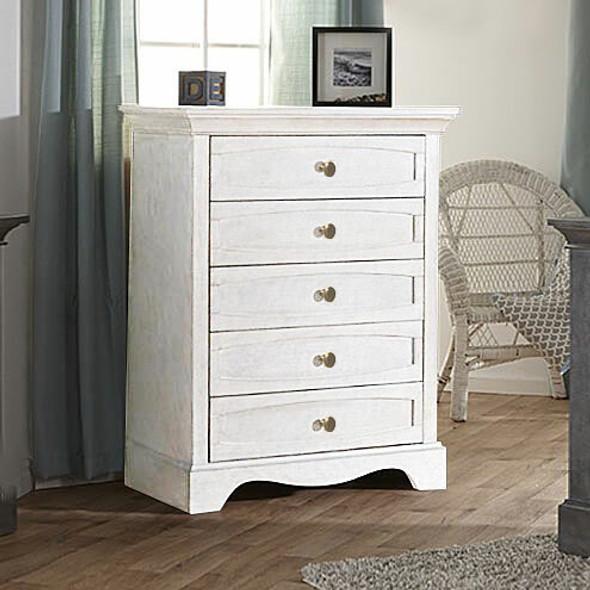 Pali Enna 5 Drawer Dresser in Vintage White