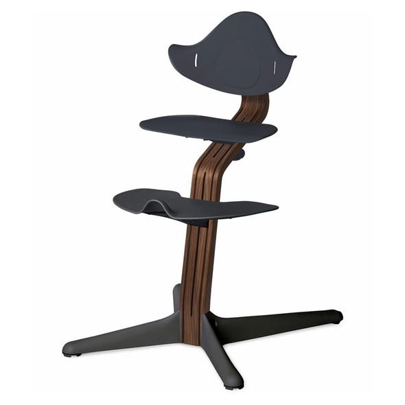 Nomi Chair Anthracite in Walnut