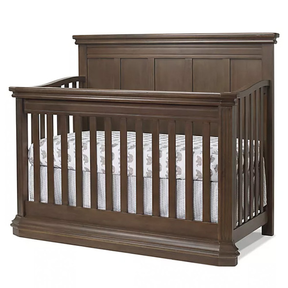 Sorelle Sutton 2 Piece Nursery Set - Crib and 5 Drawer Dresser in Chocolate