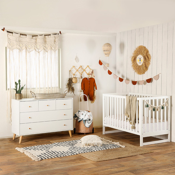 Dadada Austin 3-in-1 crib, white