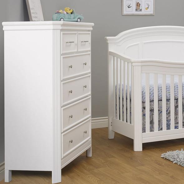 Sorelle Finley Elite 6 Drawer Dresser in White