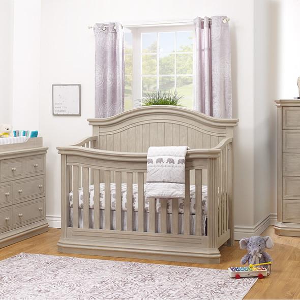 Sorelle Vista Elite Supreme 4-in-1 Crib in Heritage Fog