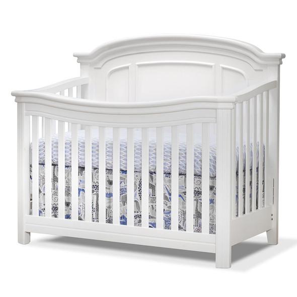 Sorelle Finley Elite 2 Piece Nursery Set in White - Crib and Double Dresser