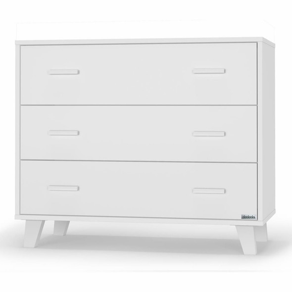 """Dadada Brooklyn 3-drawer dresser, all white - 40"""""""
