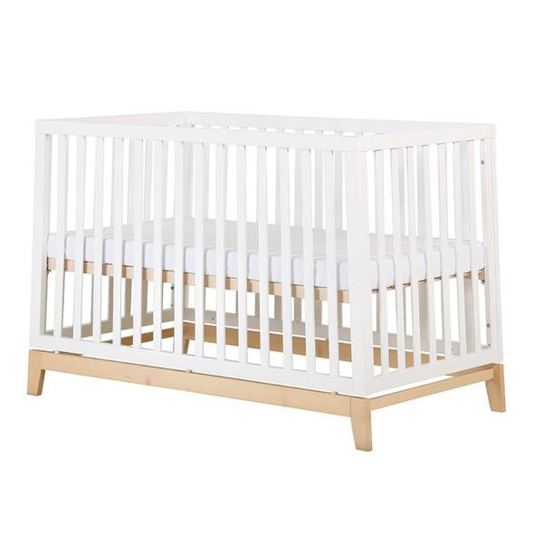 Dadada Chelsea 3-in-1 crib, white + natural