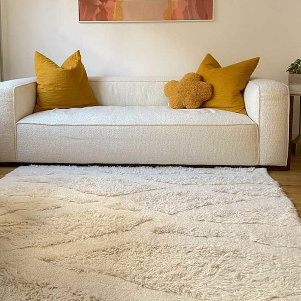 Lorena Canals Africa Woolable XL Washable Rug Enkang Ivory