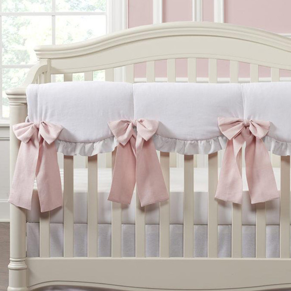 Liz and Roo White Woven with Petal Ruffles INCL 4 oversized pre-tied bows