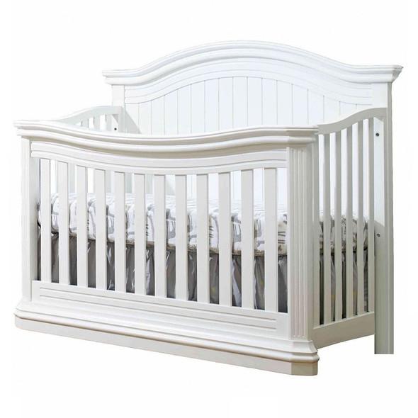Sorelle Vista Elite Supreme 2 Piece Set in White - Crib and 5 Drawer dresser