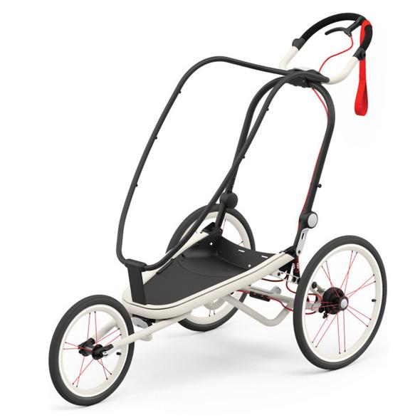 Cybex Zeno Jogging Stroller Frame - Cream with Orange details