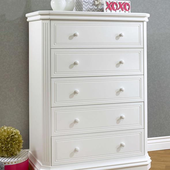 Sorelle Vista Elite Supreme 5 Drawer Dresser in White